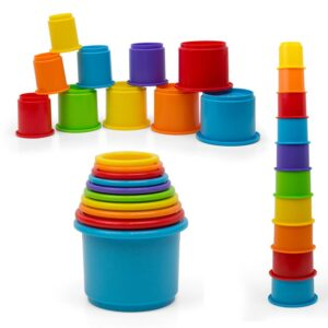 Kidsthrill Rainbow Stacking and Nesting Cups