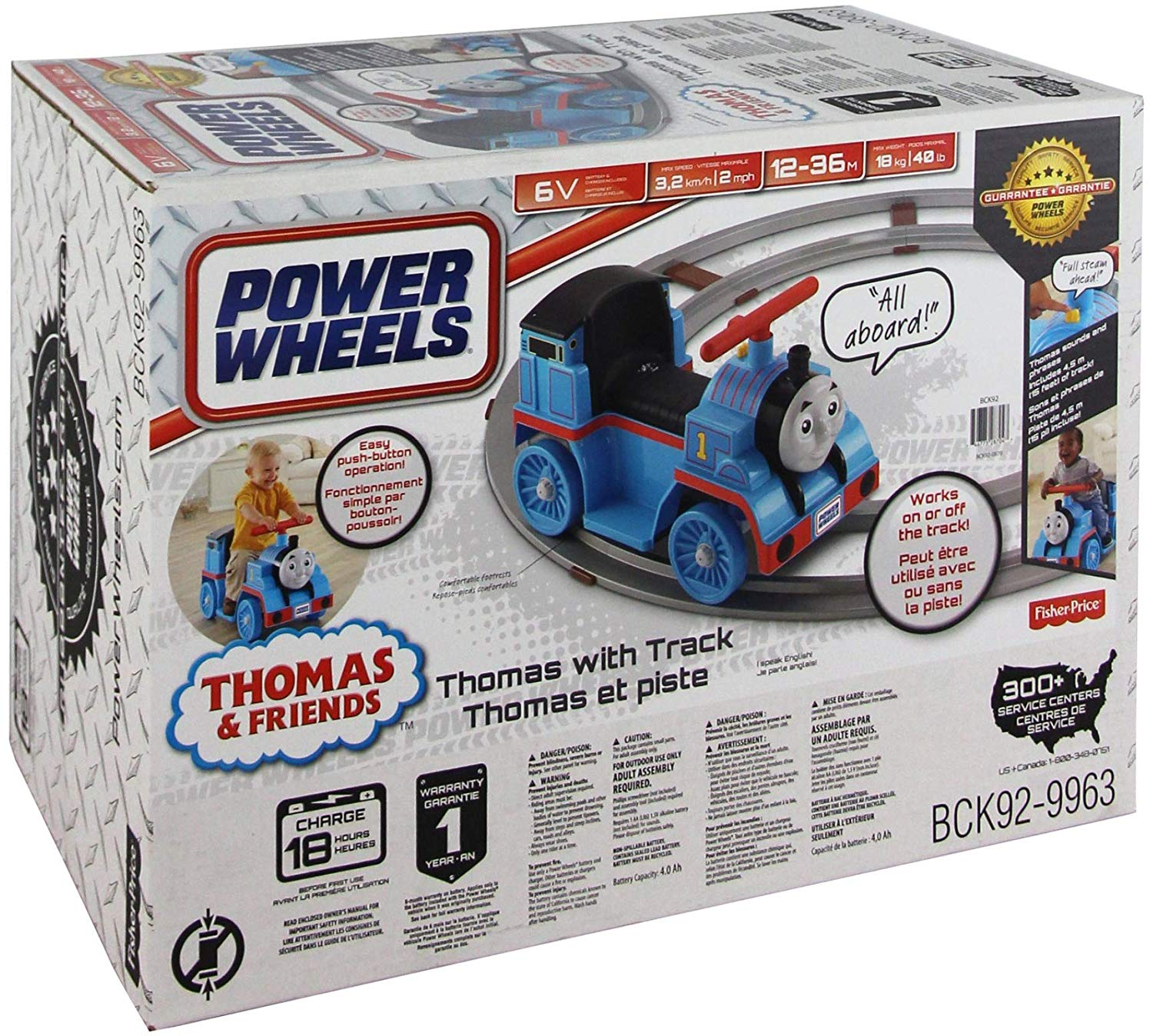 Power Wheels Thomas the Train and Friends with Track