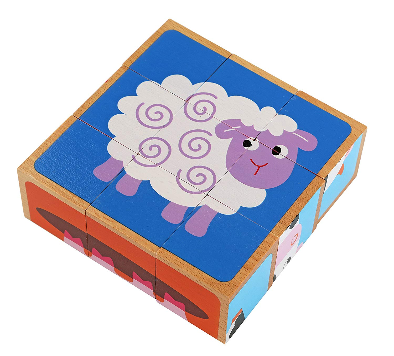 Adorable Farm Animals 6-in-1 Block Puzzle