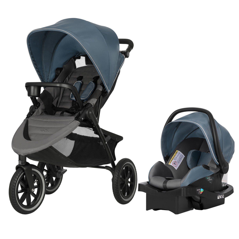 Evenflo Folio3 Stroller & Jog Travel System with LiteMax 25 Infant Car Seat, Avenue