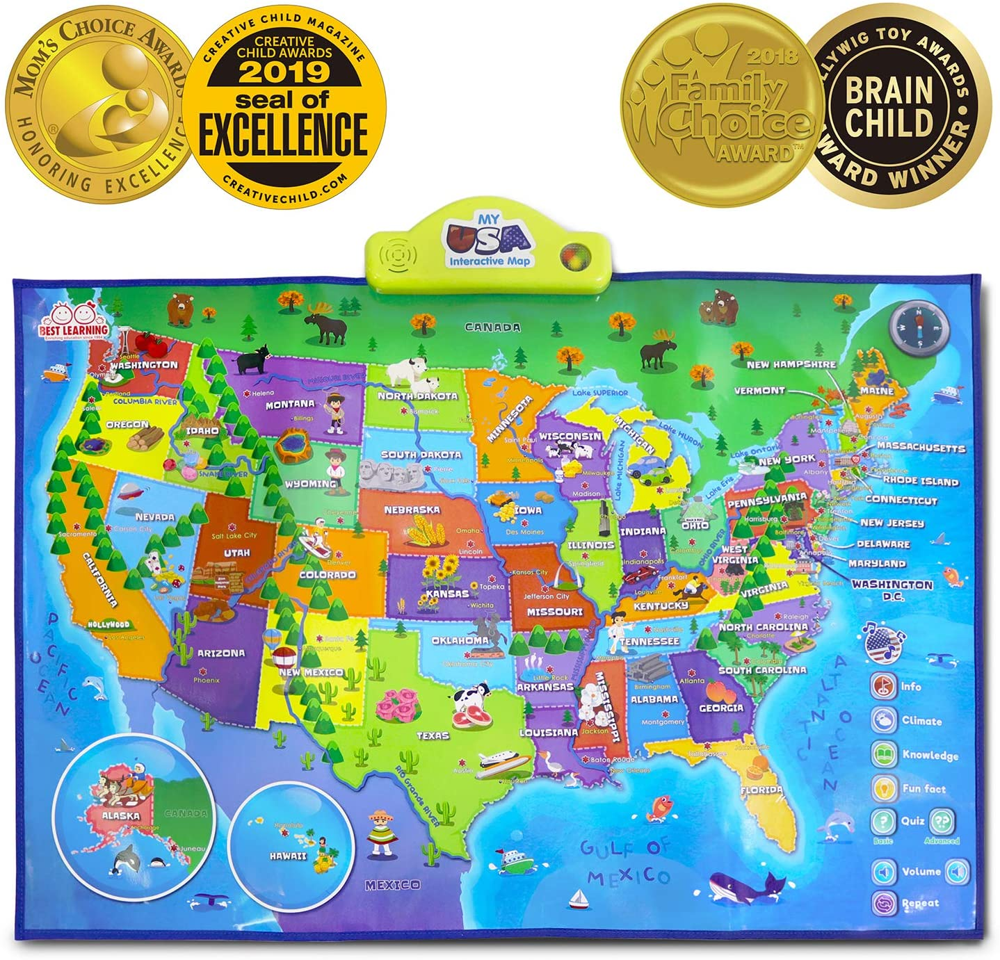 Best Learning iPoster My USA Interactive Map