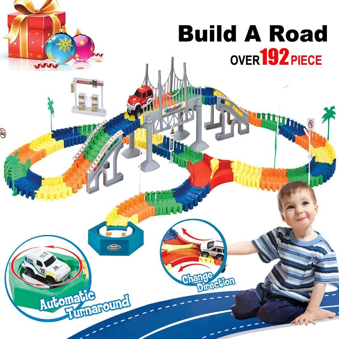 Build-A-Road Flexible Tracks Playset