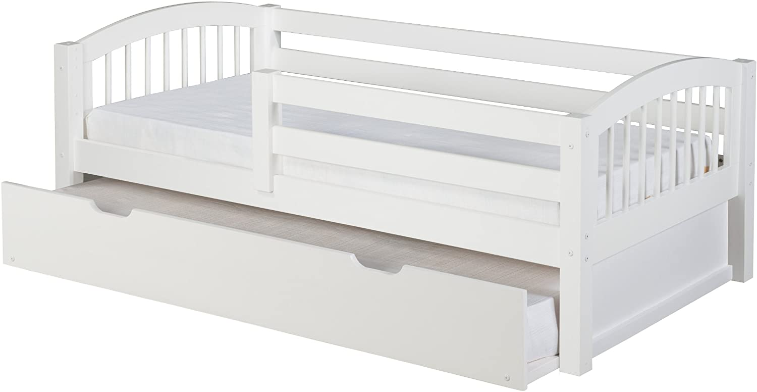 Camaflexi Arch Spindle Style Solid Wood Day Bed with Front Rail Guard