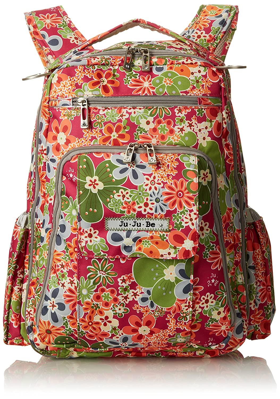 Ju-Ju-Be Be Right Back Backpack Diaper Bag, Perky Perennials