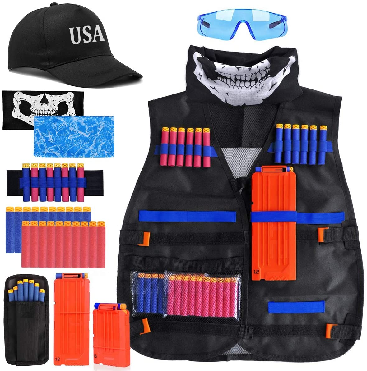 Kids Tactical Nerf Guns Vest Kit