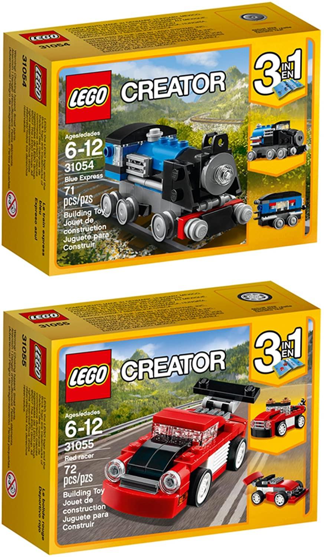 LEGO Creator Blue Express Red Racer Building Kit Bundle
