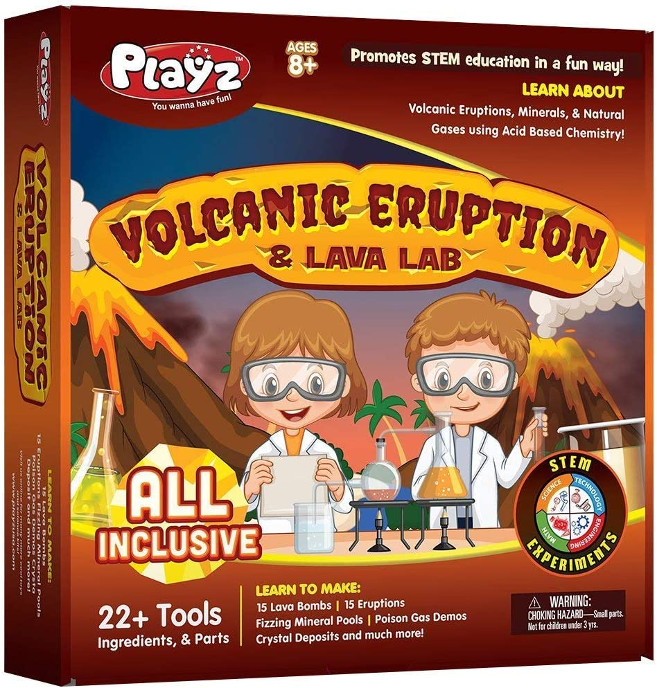Playz Volcanic Eruption and Lava Lab Science Experiment Kit