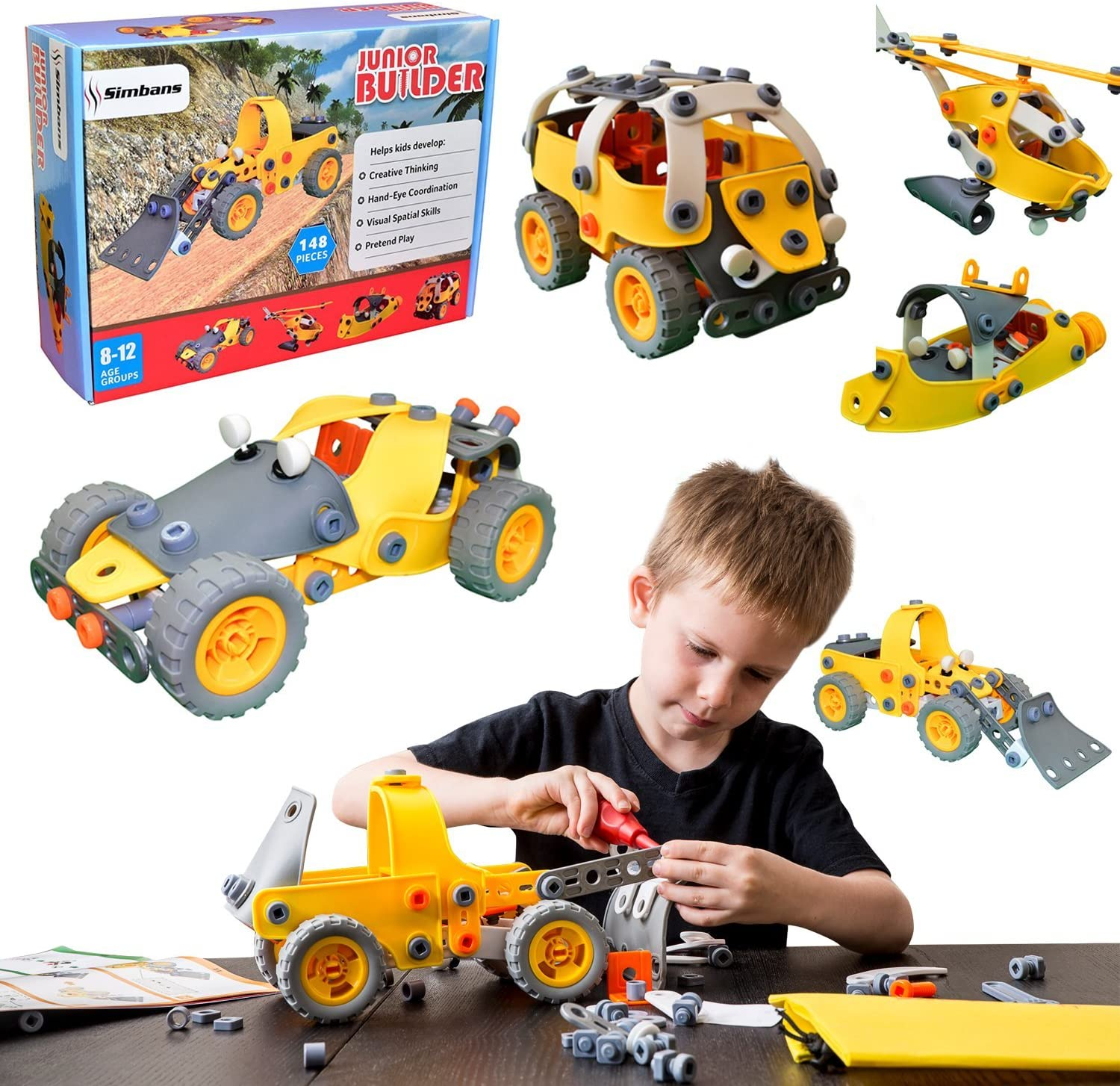 Simbans 5-in-1 Build and Play Set
