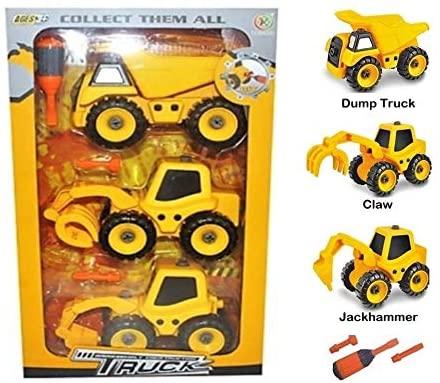 Take-Apart Construction Vehicle Trucks