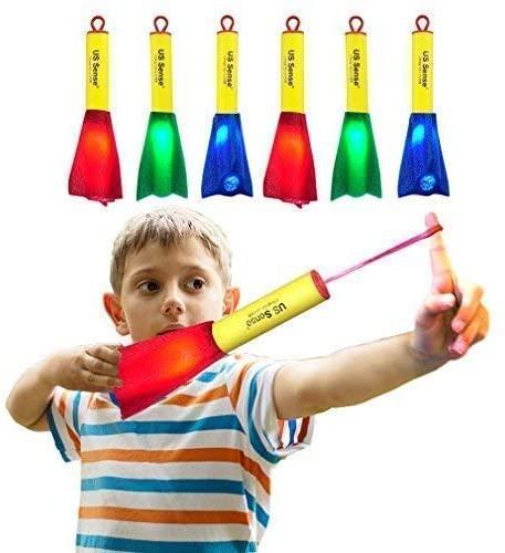 US Sense 6-Pack LED Foam Finger Slingshot Rocket Copters